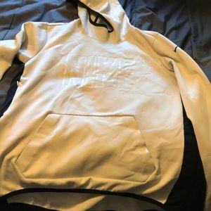 White and black long sleeve Nike sweatshirt